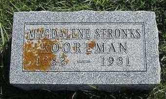 STRONKS KOOREMAN, MAGDELENE - Sioux County, Iowa | MAGDELENE STRONKS KOOREMAN