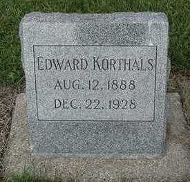 KORTHALS, EDWARD - Sioux County, Iowa | EDWARD KORTHALS