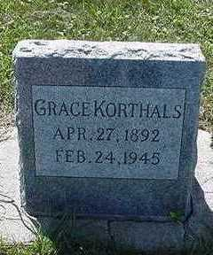 KORTHALS, GRACE - Sioux County, Iowa | GRACE KORTHALS