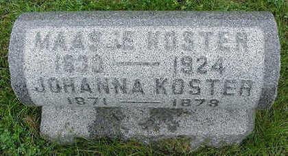 KOSTER, MAASJE - Sioux County, Iowa   MAASJE KOSTER