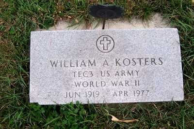 KOSTERS, WILLIAM A. - Sioux County, Iowa | WILLIAM A. KOSTERS