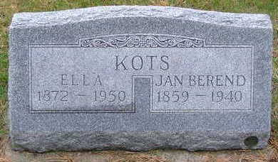 KOTS, ELLA (MRS. JAN) - Sioux County, Iowa | ELLA (MRS. JAN) KOTS