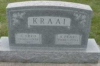 KRAAI, A. PEARL (MRS. C. FRED) - Sioux County, Iowa | A. PEARL (MRS. C. FRED) KRAAI