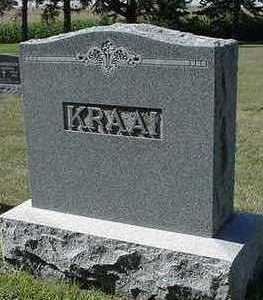 KRAAI, HEADSTONE - Sioux County, Iowa | HEADSTONE KRAAI