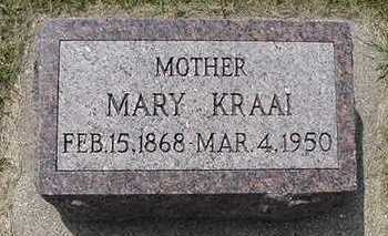 KRAAI, MARY - Sioux County, Iowa | MARY KRAAI