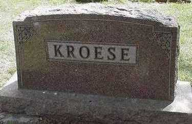 KROESE, HEADSTONE - Sioux County, Iowa | HEADSTONE KROESE