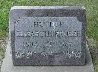 KROEZE, ELIZABETH - Sioux County, Iowa | ELIZABETH KROEZE