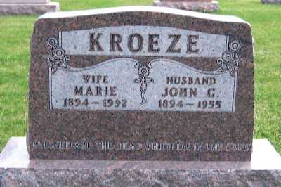 KROEZE, MARIE - Sioux County, Iowa | MARIE KROEZE