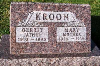 KROON, MARY - Sioux County, Iowa | MARY KROON