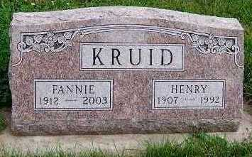 KRUID, FANNIE - Sioux County, Iowa | FANNIE KRUID