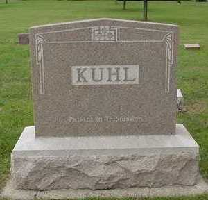 KUHL, HEADSTONE - Sioux County, Iowa | HEADSTONE KUHL