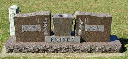KUIKEN, MARY (MRS. FRANK) - Sioux County, Iowa | MARY (MRS. FRANK) KUIKEN