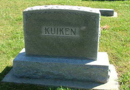 KUIKEN, HEADSTONE FAMILY - Sioux County, Iowa | HEADSTONE FAMILY KUIKEN