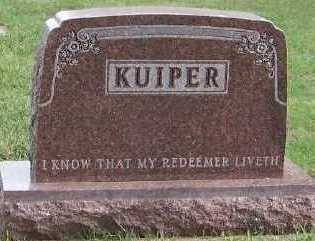 KUIPER, HEADSTONE - Sioux County, Iowa | HEADSTONE KUIPER