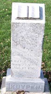 KUYPER, CORNELIUS (SON OF G.B&E.) - Sioux County, Iowa | CORNELIUS (SON OF G.B&E.) KUYPER