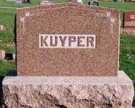 KUYPER, HEADSTONE - Sioux County, Iowa | HEADSTONE KUYPER