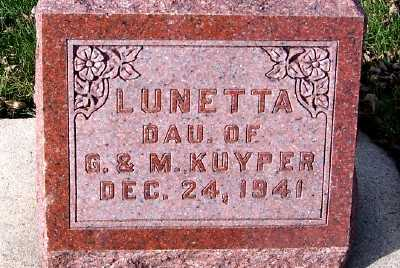 KUYPER, LUNETTA (DAU. OF G.&M.) - Sioux County, Iowa | LUNETTA (DAU. OF G.&M.) KUYPER