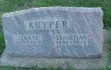 KUYPER, JENNIE (MRS. SEBASTIAN) - Sioux County, Iowa | JENNIE (MRS. SEBASTIAN) KUYPER