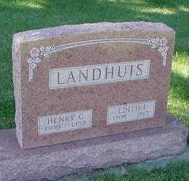 LANDHUIS, EDITH L. (MRS. HENRY) - Sioux County, Iowa | EDITH L. (MRS. HENRY) LANDHUIS