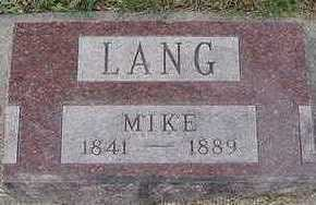 LANG, MIKE - Sioux County, Iowa | MIKE LANG