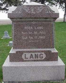 LANG, ROSA - Sioux County, Iowa | ROSA LANG
