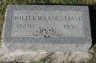 LANGSTRAAT, WALTER W. - Sioux County, Iowa | WALTER W. LANGSTRAAT