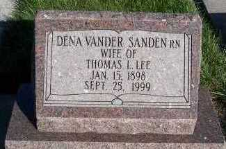 VANDERSANDEN LEE, DENA (MRS. THOMAS L.) - Sioux County, Iowa | DENA (MRS. THOMAS L.) VANDERSANDEN LEE