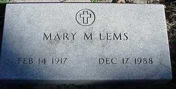LEMS, MARY M. - Sioux County, Iowa | MARY M. LEMS