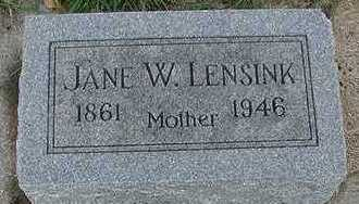 LENSINK, JANE W. - Sioux County, Iowa | JANE W. LENSINK