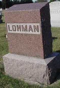LOHMAN, HEADSTONE - Sioux County, Iowa | HEADSTONE LOHMAN