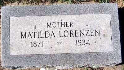LORENZEN, MATILDA - Sioux County, Iowa | MATILDA LORENZEN