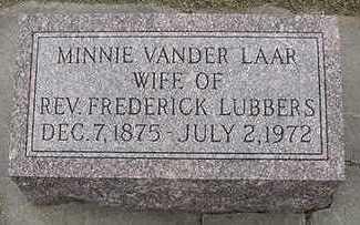 VANDERLAAN LUBBERS, MINNIE (MRS. FREDERICK) - Sioux County, Iowa | MINNIE (MRS. FREDERICK) VANDERLAAN LUBBERS