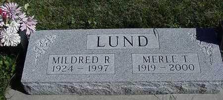 LUND, MILDRED R. (MRS. MERLE) - Sioux County, Iowa | MILDRED R. (MRS. MERLE) LUND