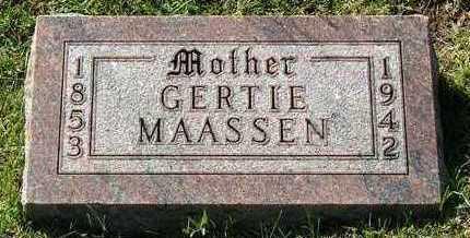 MAASSEN, GERTIE - Sioux County, Iowa | GERTIE MAASSEN