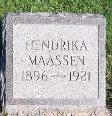 MAASSEN, HENDRIKA - Sioux County, Iowa | HENDRIKA MAASSEN