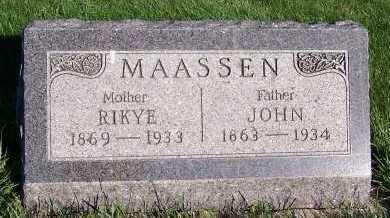 MAASSEN, JOHN - Sioux County, Iowa | JOHN MAASSEN