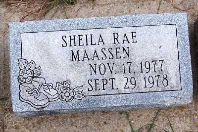 MAASSEN, SHEILA RAE - Sioux County, Iowa | SHEILA RAE MAASSEN