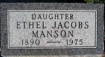 JACOBS MANSON, ETHEL - Sioux County, Iowa | ETHEL JACOBS MANSON