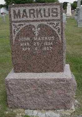 MARKUS, JOHN - Sioux County, Iowa | JOHN MARKUS