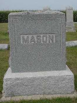 MASON, HEADSTONE - Sioux County, Iowa | HEADSTONE MASON