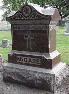 MCCABE, HEADSTONE - Sioux County, Iowa | HEADSTONE MCCABE