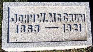 MCCRUM, JOHN W. - Sioux County, Iowa | JOHN W. MCCRUM