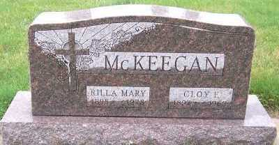MCKEEGAN, RILLA MARY (1895-1978) - Sioux County, Iowa | RILLA MARY (1895-1978) MCKEEGAN