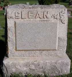 MCLEAN, HEADSTONE - Sioux County, Iowa | HEADSTONE MCLEAN