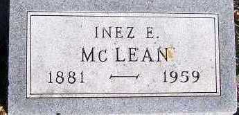 MCLEAN, INEZ E. - Sioux County, Iowa | INEZ E. MCLEAN