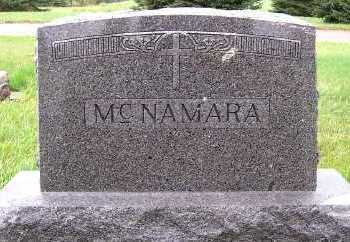 MCNAMARA, HEADSTONE - Sioux County, Iowa | HEADSTONE MCNAMARA