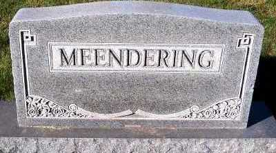 MEENDERING, FAMILY HEADSTONE - Sioux County, Iowa | FAMILY HEADSTONE MEENDERING