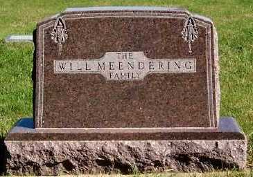 MEENDERING, WILL FAMILY HEADSTONE - Sioux County, Iowa | WILL FAMILY HEADSTONE MEENDERING