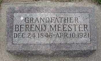 MEESTER, BEREND - Sioux County, Iowa | BEREND MEESTER