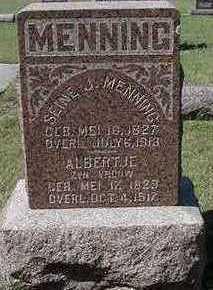 MENNING, ALBERTJE - Sioux County, Iowa | ALBERTJE MENNING